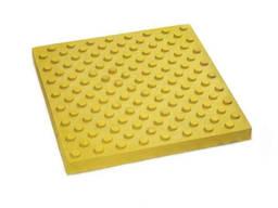 Тактильная бетонная плитка 300х300х60 Шаблон уваги жовта