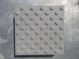 Тактильная плитка бетонная 400х400х50