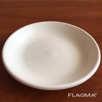 Тарелка пластиковая белая