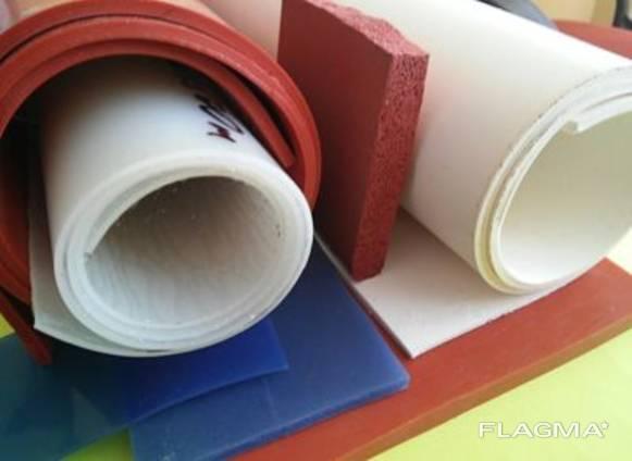 Резина силиконовая термостойкая, рулонная, толщина 2.0-10.0