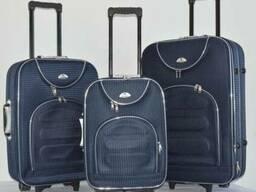 Текстильный чемодан сумка дорожний Bonro набор 3 штуки