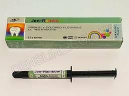 Светоотверждаемый жидкотекучий реставрационный композит Jen-Rainbow (Jendental)