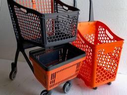 Тележка для магазинна, супермаркета АКцИЯ объем 75л от 15 шт