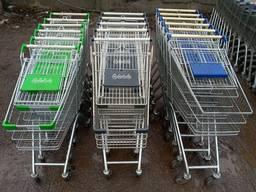 Тележки для супермаркета б у, торговые покупательские тележки бу