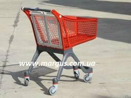 #Тележки пластиковые для супермаркета#, для магазина 75 л