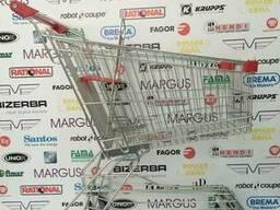 Тележки торговые с поддоном 125 литров, для супермаркета