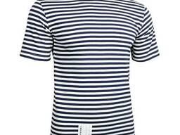 Тельняшка-футболка вязаная ВМФ (темно-синяя, ВМФ, морская)