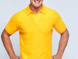 Чоловіча сорочка поло жовтого кольору