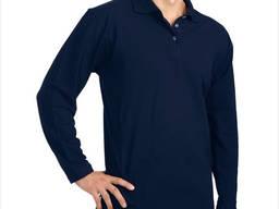 Тенниска-поло с длинным рукавом темно-синего цвета