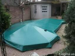Тент на бассейн. Накрытие на бассейн. Изготовление басейнов.