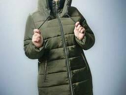 Теплая Зимняя Куртка модная 52р хаки , доставка по Украине