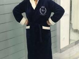 Теплый красивый женский махровый халат 48-50-52-54-56. ..