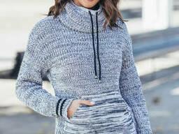 Теплый свитер кенгуру 44-52 размеры 6цветов
