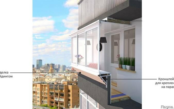 Застеклить балкон с расширением остекление балкона и утепление в москве