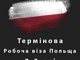 Термінові документи на Робочу віза в Польщу за 2-3 дні!
