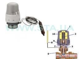 Термоголовка с выносным датчиком - резьба М30х1, 5мм