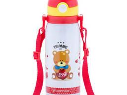 Термос для детей из нержавеющей стали Kamille 450 мл (красный)
