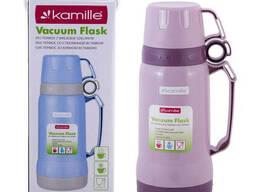 Термос Kamille пластиковый со стеклянной колбой 1 л