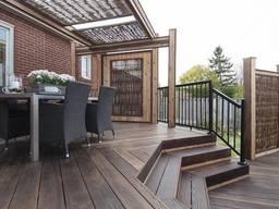 Террасы (возле бассейна, на балконе) патио, зоны отдыха, металоконструкции и навесы