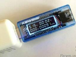 Тестер USB напряжения, тока и емкости аккумулятора Keweisi