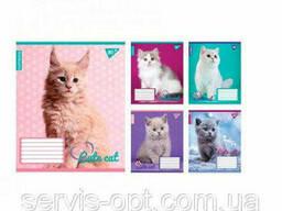 Тетрадь на 18 листов в клеточку YES Cute animals Car