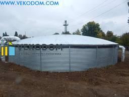 Резервуар для воды вертикальный стальной 1000