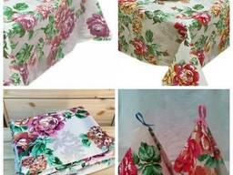 Ткань, скатерти, рогожка, розалия, хлопок, розница.