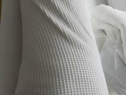 Ткань вафельная для халатов, белая,