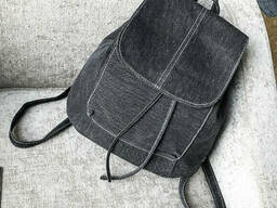 Тканевый женский рюкзак на шнурках