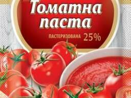 Томатна паста 25%, сашет 70 г ТМ Первоцвіт