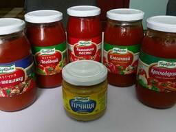 Томатная паста, соус, кетчуп, горчица