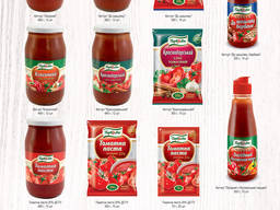 Tomato paste. Manufacture of food