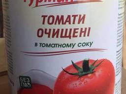 """Томаты в с/с в ж/б ТМ """"Гурман"""" 2600 гр"""