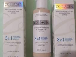 Тональный крем Collagen Whitening Moisture Foundation SPF-15 3в1 осветляющий,100мл