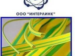 Тонкостенная термоусаживаемая трубка желто-зеленая