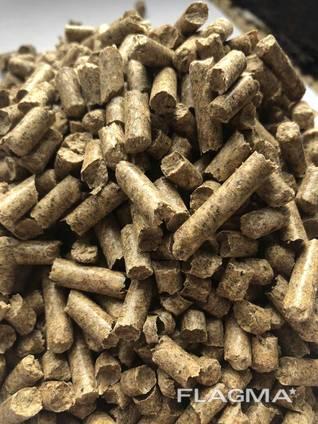 Топливные древесные пеллеты, гранулы из сосны 6 мм и 8 мм