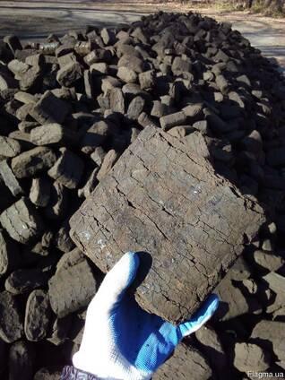 Торфяной брикет выгоднее дров, 20 кг. мешок