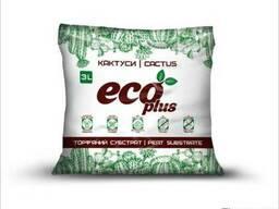 Торфяной субстрат Eco Plus для кактусов 3 л