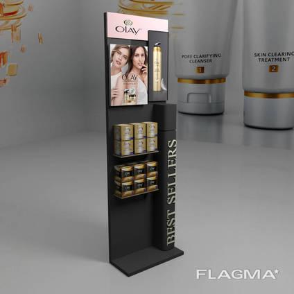 Торговая стойка для косметики и парфюмерии