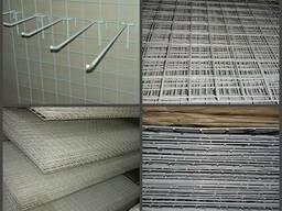 Торговое оборудование сетки крючки, витрины сетки навесные