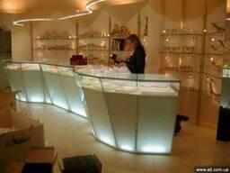 Торговое оборудование на заказ прилавки витрины стеллажи