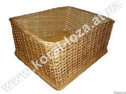 Торговый плетеный лоток из лозы для хлеба-34