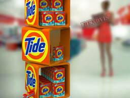 Торговые стойки для хозтоваров и порошка Tide