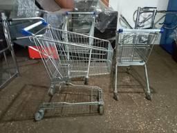 Торговые тележки б у, тележки покупательские для супермаркет