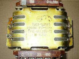 Трансформатор ТБС3-1 0.063кВт 220/5/24В (СССР)