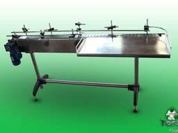 Транспортер пластинчатый с накопительным столом