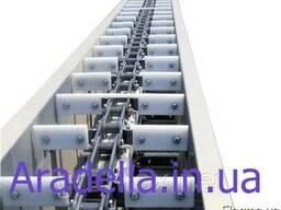 Транспортёр (конвейер) цепной скребковый в коробе 160 мм 8 м