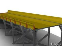 Транспортёр подачи тюков соломы, длина 6 метров
