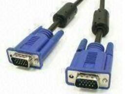 Требуются кабеля VGA (передачи данных от компьютера к монито
