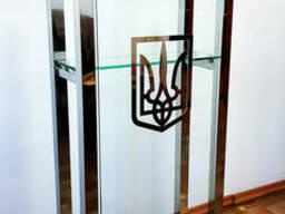 Трибуна кафедра з нержавіючої сталі з гербом